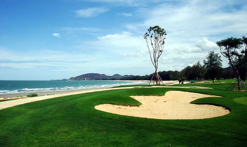 Seapine golf course and beach